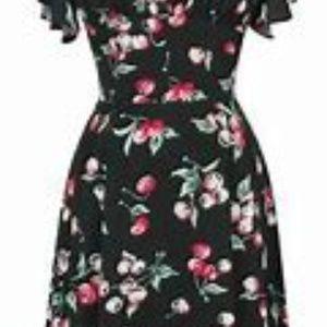 Trashy Diva Cherries Flutter Sleeve Dress